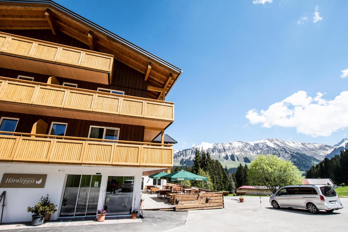 Außenansicht Alpengasthof Hörnlepass